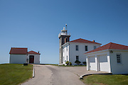 Watch Hill lighthosue and the lighthouse keeper's house, Watch Hill, Westerly, Rhode Island.