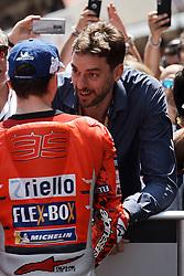 June 16, 2018 - Barcelona, Catalonia, Spain - Pau Gasol and Jorge Lorenzo (99) of Spain and Ducati Team during the qualifying of the Gran Premi Monster Energy de Catalunya, Circuit of Catalunya, Montmelo, Spain.On 16 june of 2018. (Credit Image: © Jose Breton/NurPhoto via ZUMA Press)
