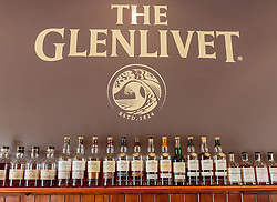 THEMENBILD - verschiedene Flaschen mit Whiskey der Glenlivet Whiskey Destillerie bei Ballindalloch, Schottland, aufgenommen am 08. Juni 2015 // Various bottles of whiskey of Glenlivet whiskey distillery near Ballindalloch, Scotland on 2015/06/08. EXPA Pictures © 2015, PhotoCredit: EXPA/ JFK
