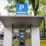 NLD/Amsterdam/20150517 - Parkeerautomaat gemeente Amsterdam bij het Hilton Hotel Amsterdam,
