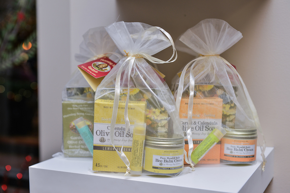 Beauty product packages for sale at NOTO Boutique.