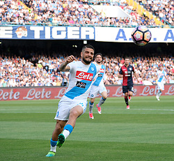 May 7, 2017 - Napoli, Campania, Italy - This afternoon the Naples San Paolo Stadium in Naples, the team of mister Sarri won for 3-1 guests of Cagliari. (Credit Image: © Fabio Sasso/Pacific Press via ZUMA Wire)