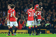 Ashley Young celebrates with goalscorer Robin van Persie of Manchester United - Manchester United vs. Hull City - Barclay's Premier League - Old Trafford - Manchester - 29/11/2014 Pic Philip Oldham/Sportimage