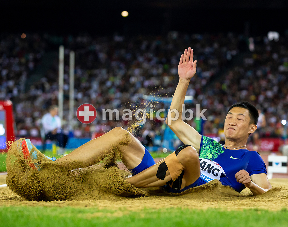 Jianan WANG of China competes in the Men's Long Jump during the Iaaf Diamond League meeting (Weltklasse Zuerich) at the Letzigrund Stadium in Zurich, Switzerland, Thursday, Aug. 29, 2019. (Photo by Patrick B. Kraemer / MAGICPBK)