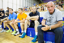 Ivica Jurkovic and Brane Oblak during football and basketball charity event All Legends by Olimpiki, on June 9, 2015 in Hala Tivoli, Ljubljana, Slovenia. Photo by Vid Ponikvar / Sportida