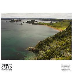Oihi Bay, Purerua Peninsula, Bay of Islands, Northland, New Zealand.<br />