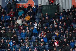 Fans in the South Stand. Falkirk 1 v 1 Morton, Scottish Championship game today at The Falkirk Stadium.<br /> © Michael Schofield.