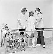 "Y-750225B-02.   ""Emanuel Hospital. Burn Center. February 25, 1975"", ""physical therapy"""