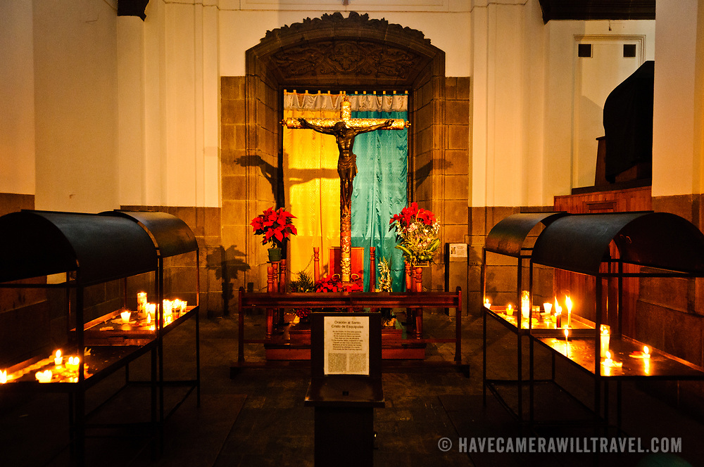 Altar inside the Catedral Metropolitana in the center of Guatemala City