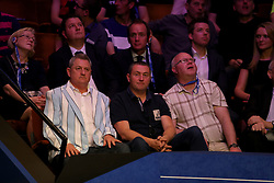 Coventry City fan Brian Wright wears a blue and white striped blazer during day seventeen of the 2018 Betfred World Championship at The Crucible, Sheffield.
