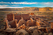 Pueblo Bonito, the largest and best known Great House in Chaco Culture National Historical Park, northern New Mexico, was built by ancestral Pueblo people and occupied between AD 828 and 1126.