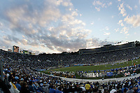 11 November 2006: Overview interior view of the Rose Bowl Stadium with sunset clouds  during the UCLA Bruins 25-7 win over the Oregon State Beavers Pac-10 college football game at the Rose Bowl.<br />