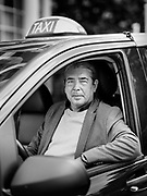 Ghent, Belgium, 1 Sep 2020, Rudy is a taxi driver. Normally he has a lot of work with his nice black mini-bus. Airport transport. Or like today: the 1st day of school… But the orders stay out. Less than 50%. It's a drama for us. 6 of his 10 colleagues are technical unemployed. And you must beware of contamination in such a small space as that of a car. The tourist season is almost over and Rudy hopes that there will be no second wave. In that case, it would really be a fiasco for us.