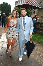 JAMES and TARA ARCHER at the wedding of Tom Parker Bowles to Sara Buys at St.Nicholas Church, Rotherfield Greys, Oxfordshire on 10th September 2005.<br /><br />NON EXCLUSIVE - WORLD RIGHTS