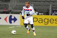 FOOTBALL - FRENCH CUP 2011/2012 - 1/8 FINAL - OLYMPIQUE LYONNAIS v GIRONDINS DE BORDEAUX - 08/02/2012 - PHOTO EDDY LEMAISTRE / DPPI - JIMMY BRIAND (OL)