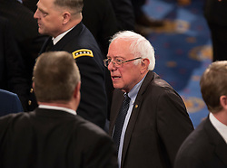 United States Senator Bernie Sanders (Independent of Vermont) awaits the arrival of U.S. President Donald J. Trump to address a joint session of Congress on Capitol Hill in Washington, DC, USA, February 28, 2017. Photo by Chris Kleponis/CNP/ABACAPRESS.COM