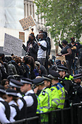 People hold placards in London, Saturday, June 6, 2020, and march towards the Home Office during a rally to protest against the killing of George Floyd by police officers in Minneapolis, USA. Floyd, a black man, died after he was restrained by Minneapolis police while in custody on May 25 in Minnesota. (Photo/ Vudi Xhymshiti)
