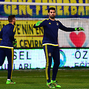Fenerbahce's goalkeeper Volkan Demirel during their Turkish Super League soccer match Akhisar Belediye Genclik Spor between Fenerbahce at the 19 Mayis Stadium in Manisa Turkey on Sunday, 06 March 2016. Photo by TURKPIX