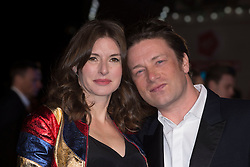 """Juliette Norton and Jamie Oliver attends the European premiere for """"Eddie the Eagle at Odeon Leicester Square in London, 17.03.2016. EXPA Pictures © 2016, PhotoCredit: EXPA/ Photoshot/ Euan Cherry<br /> <br /> *****ATTENTION - for AUT, SLO, CRO, SRB, BIH, MAZ, SUI only*****"""