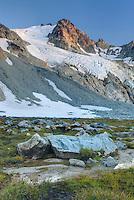 Glaciated Peaks of Boulder/Salal Divide near Athelney Pass, Coast Range British Columbia Canada