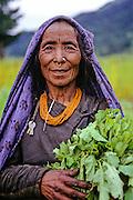 NEPAL, HIMALAYAS, Portrait of plant collector, Chodul Buddha of Huri Gao