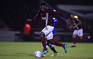 Aaron Pierre of Northampton Town in action. EFL Skybet Football League one match, Northampton Town v Portsmouth at the Sixfields Stadium in Northampton on Tuesday 12th September 2017. <br /> pic by Bradley Collyer, Andrew Orchard sports photography.