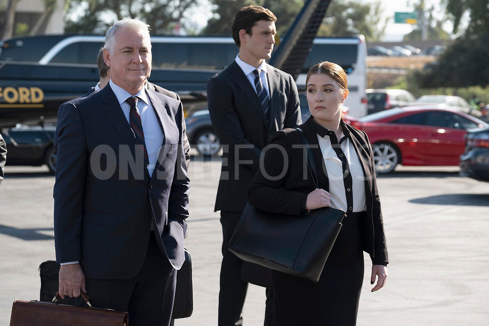 """RUTHERFORD FALLS -- """"Rutherford Inc."""" Episode 107 -- Pictured: (l-r) Robert Curtis Brown as Beau, Charlie Hall as Tony, Mimi Gianopulos as Kaitlyn -- (Photo by: Colleen Hayes/Peacock)"""