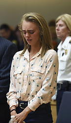 June 16, 2017 - Taunton, Massachusetts, U.S - MICHELLE CARTER cries after being found guilty of involuntary manslaughter in the suicide of Conrad Roy III, today in Bristol Juvenile Court. In a case that hinged largely on a teenage couple's intimate text messages, Carter was found guilty in the 2014 death of her boyfriend, who poisoned himself by inhaling carbon monoxide in his pickup truck as she listened and did not contact police. (Credit Image: © Prensa Internacional via ZUMA Wire)