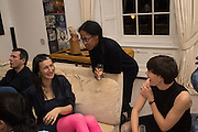 MARVIN GAYE CHETWYND; ANTHEA HAMILTON; ALICE CHANNER; , Valeria and Gregorio Napoleone and Joe Scotland host a dinner at therir home in Kensington  in celebration of Sol  Calero's commission at Studio Voltaire.  London. 13 October 2015