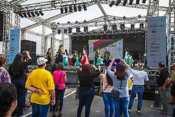 Grupo de Dancas Querencia Amada se apresenta na 41a Expointer realizada em Esteio, Rio Grande do Sul. FOTO: Gustavo Granata/ Agência Preview