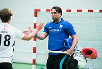 UTRECHT-Zaalhockey hoofdklasse.  Cartouche keeper Laurens Goedegebuure COPYRIGHT KOEN SUYK