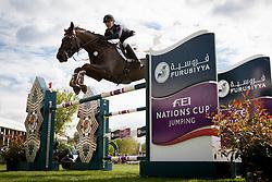 Gillott Holly, (FRA), Dougie Douglas <br /> Furusiyya FEI Nations Cup of Belgium<br /> Longines Spring Classic of Flanders - Lummen 2015<br /> © Hippo Foto - Leanjo de Koster<br /> 01/05/15