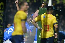 November 18, 2017 - Bucharest, Romania - Samoa's celebration  during International Friendly  Rugby match at National Stadium ''Arcul de Triumf'', on November 18th 2017, in Bucharest, Romania. (Credit Image: © Alex Nicodim/NurPhoto via ZUMA Press)