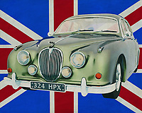 What could be more British than the bowler hat among Jaguars, the Jaguar MK2 Sedan. You see this Jaguar MK 2 driving around London or on the remote roads of England with a grumpy police inspector. Probably the Jaguar MK appears in just about every British movie that tells a story from the sixties of last century.<br />