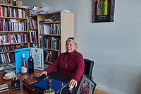 France, Côte-d'Or (21), Paysage culturel des climats de Bourgogne classés Patrimoine Mondial de l'UNESCO, Dijon, Jocelyne Pérard, titulaire de la seule Chaire UNESCO au monde portant sur la vigne et du vin // France, Burgundy, Côte-d'Or, Dijon, Unesco world heritage site, Jocelyne Pérard