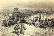 Sahagun (province de Léon) [Sahagun, Castile and Leon] Page illustration from the book 'Spain' [L'Espagne] by Davillier, Jean Charles, barón, 1823-1883; Doré, Gustave, 1832-1883; Published in Paris, France by Libreria Hachette, in 1874