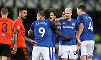 Football - 2017 / 2018 Europa League - Third Qualifying Round, First Leg: Everton vs. MFK Ruzomberok<br /> <br /> Leighton Baines of Everton celebrates scoring the winning goal at Goodison Park.<br /> <br /> COLORSPORT/LYNNE CAMERON