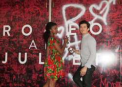 07.08.2013, Richard Rodgers Theatre, Broadway, New York City, USA, Fototermin mit Orlando Bloom und Condola Rashad fuer Romeo und Jula, im Bild Condola Rashad and Orlando Bloom // during a photocall with Orlando Bloom and Condola Rashhad for Romeo and Julia at the Richard Rodgers Theatre on Broadway in New York City, United States of Amerika on 2013/08/07. EXPA Pictures © 2013, PhotoCredit: EXPA/ Newspix/ MediaPunch Inc<br /> <br /> ***** ATTENTION - for AUT, SLO, CRO, SRB, BIH, TUR, SUI and SWE only *****