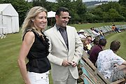 Elizabeth Getty and  Guy Leymarie, Guy Leymarie and Tara Getty host The De Beers Cricket Match. The Lashings Team versus the Old English team. Wormsley. ONE TIME USE ONLY - DO NOT ARCHIVE  © Copyright Photograph by Dafydd Jones 66 Stockwell Park Rd. London SW9 0DA Tel 020 7733 0108 www.dafjones.com