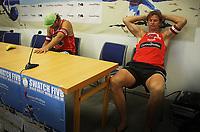 Volleyball Sandvolleyball Beachvolleyball<br />Swatch FIVB World Tour Conoco Phillips Grand Slam<br />Stavanger 260608<br />Foto: Sigbjørn Andreas Hofsmo, Digitalsport<br /><br /> Bjørn Maaseide - Iver Horrem depper etter tap