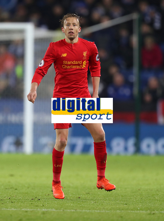 Football - 2016 / 2017 Premier League - Leicester City vs. Liverpool<br /> <br /> Lucas Leiva of Liverpool during the match at The King Power Stadium.<br /> <br /> COLORSPORT/LYNNE CAMERON