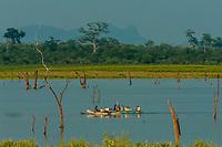 Udawalawe National Park, Sri Lanka. Udawalawe is an important habitat for water birds and Sri Lankan elephants.