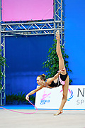"Aesma Carmen during rope routine at the International Tournament of rhythmic gymnastics ""Città di Pesaro"", 01 April,2016 . Carmen is a gymnast from Estonia. She is born at Tallin, 2002. <br />