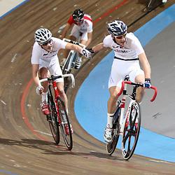 Nederlands Kampioenschap Koppelkoers junioren Apeldoorn Mitchell Cornelisse en Danny Arentsen pakken de titel