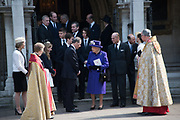 DAVID LINLEY, THE EARL OF SNOWDON, QUEEN ELIZABETH 11; PRINCE PHILIP LEAVING,Service of thanksgiving for  Lord Snowdon, St. Margaret's Westminster. London. 7 April 2017