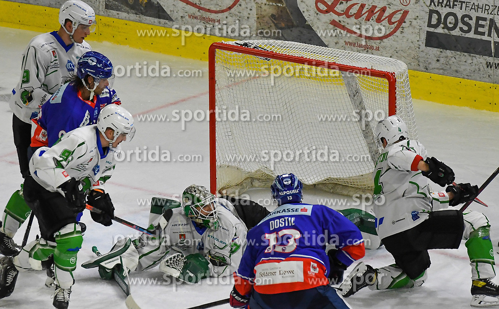 17.09.2021, Tiroler Wasserkraft Arena, Innsbruck, AUT, ICE, HC TWK Innsbruck Die Haie vs HK SZ Olimpija, Grunddurchgang, 1. Runde, im Bild Torhüter Paavo Holsa // during the bet-at-home ICE Hockey League Basic round 1th round match between HC TWK Innsbruck Die Haie and HK SZ Olimpija at the Tiroler Wasserkraft Arena in Innsbruck, Austria on 2021/09/17. EXPA Pictures © 2021, PhotoCredit: EXPA/ Erich Spiess