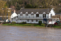 © Licensed to London News Pictures. 29/01/2020. Glasbury, Powys, Wales, UK. The river Wye bursts it's banks at Glasbury in Powys after more rainfall in Wales. Photo credit: Graham M. Lawrence/LNP
