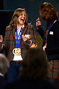 Officiele Huldiging van de Olympische medaillewinnaars Sochi 2014 / Official Ceremony of the Sochi 2014 Olympic medalists.<br /> <br /> Op de foto: Lotte van Beek