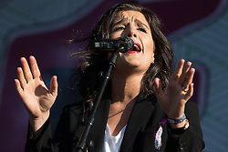 © Licensed to London News Pictures . 07/06/2015 . Manchester , UK . JESSIE WARE performs on the main stage at The Parklife 2015 music festival in Heaton Park , Manchester . Photo credit : Joel Goodman/LNP