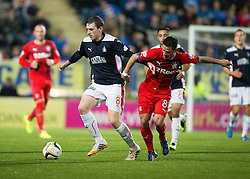 Falkirk's Blair Alston and Rangers Black. Falkirk 1 v 3 Rangers, Scottish League Cup game played 23/9/2014 at The Falkirk Stadium.
